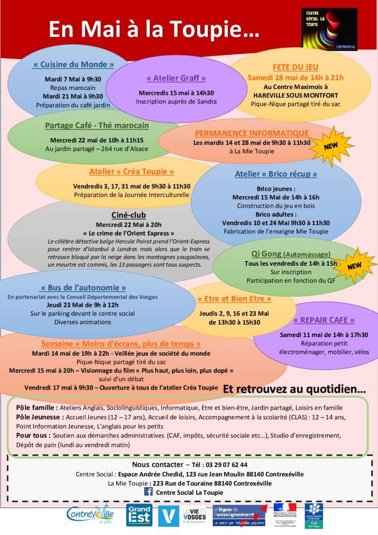 Programme mois de Mai 2019