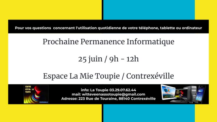 Prochaine Permanence Informatique (1)