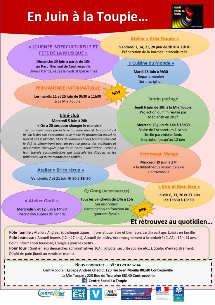 Programme mois de Juin 2019